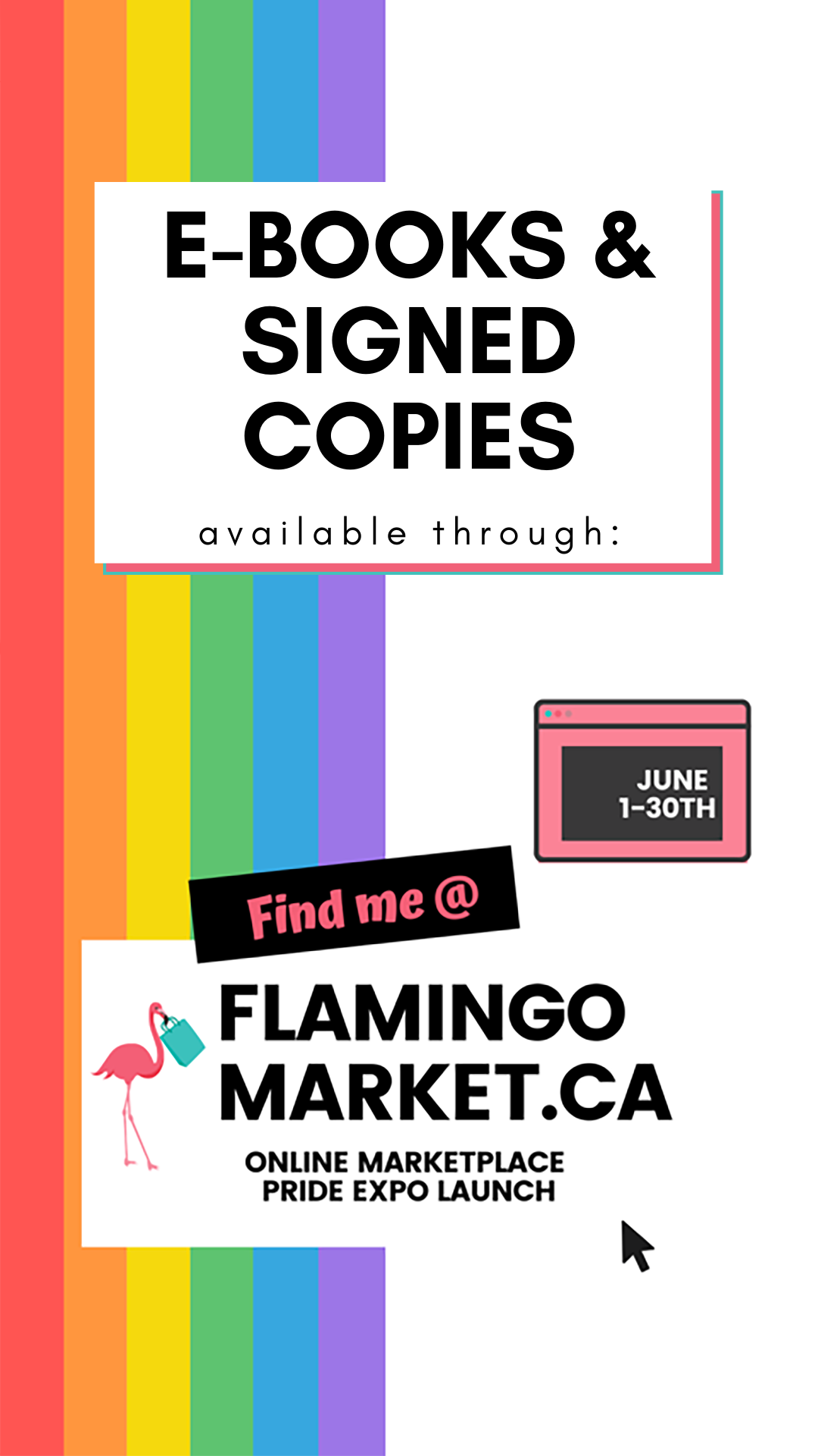 ad for signed copies of OPEN: A Tale of Love, Mermaids, Bassists, & Creepy Dudes on FlamingoMarket.ca